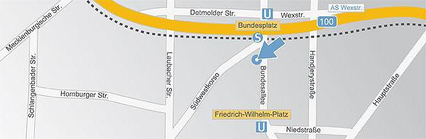 Lageplan BKM Steuerberater Berlin Steglitz